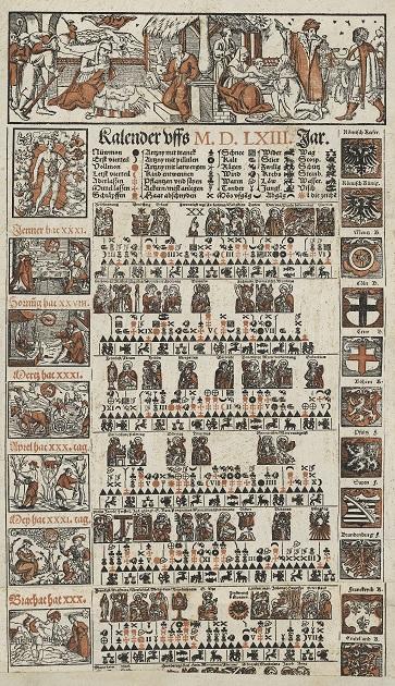 16世紀の農耕カレンダー